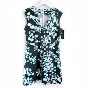 NWT. French Connection printed dress, size 12